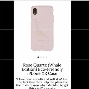 Pink whale Pela iphone XR case